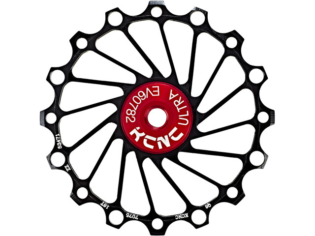 KCNC Jockey Wheel Ceramic Bearing Narrow Wide 16 hammasta, black